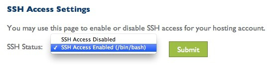 SSH Access enabled