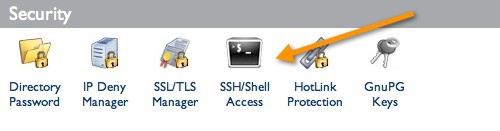 cPanel SSh access