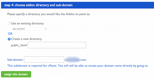 Choose addon directory