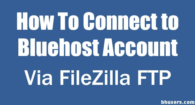 Buehost Account on filezilla
