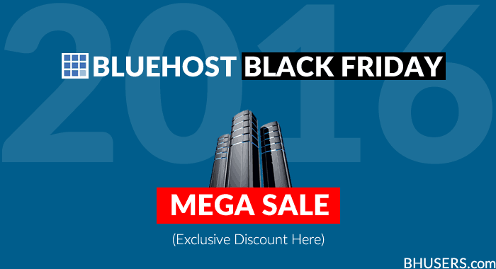 Bluehost Black Friday 2016 Sale