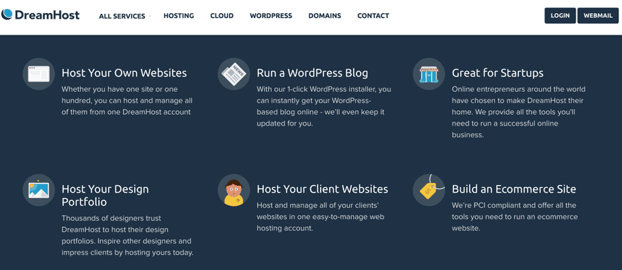 Features of Dreamhost Shared hosting