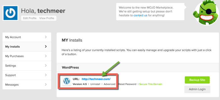 Uninstall WordPress Bluehost